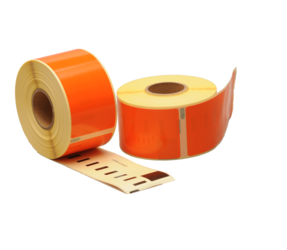 Dymo 99012 kompatible Etiketten, 89mm x 36mm, 260 Etiketten, orange, permanent