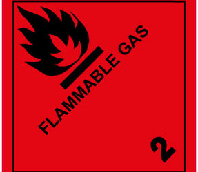 Étiquettes IMO 2.1 Flammable gas, 100mm x 100mm, 1000 étiquettes