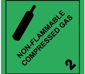 Étiquettes IMO 2.2 Non Flammable Compressed Gas, 100mm x 100mm, 1000 étiquettes