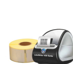 Lot d'initiation pour dentistes : Dymo LabelWriter 450 Turbo + 12 rouleaux d'étiquettes compatibles Dymo 99012